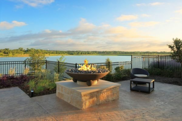 Fire Pit on Lakeview Event and Conference Center Center Terrace for Outdoor Events